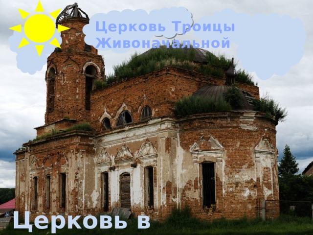 Церковь Троицы Живоначальной Церковь в Некрасово