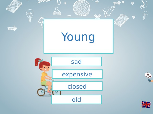 Young sad expensive closed old