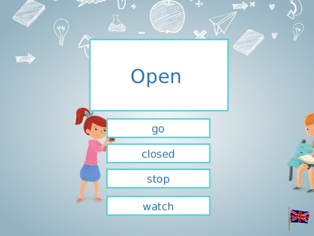 Open  go closed stop watch