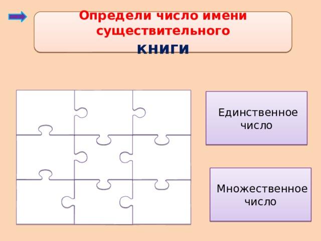 Определи число имени существительного книги  Единственное число  Множественное число