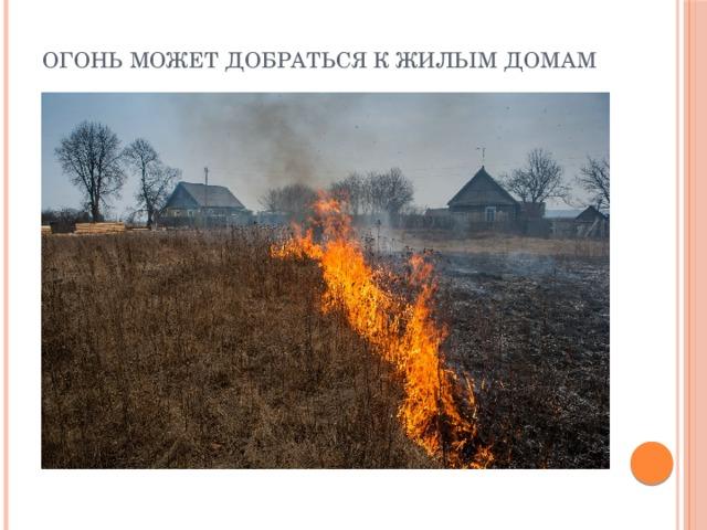 Огонь может добраться к жилым домам