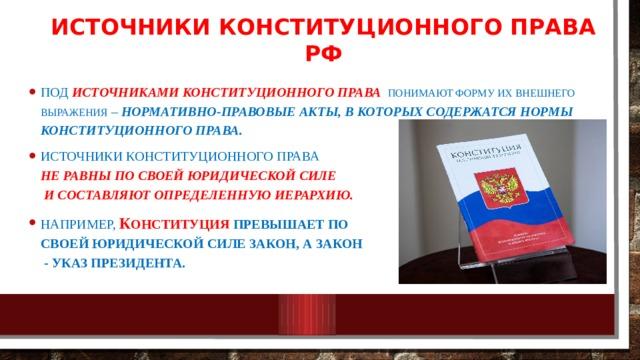 Источники конституционного права РФ