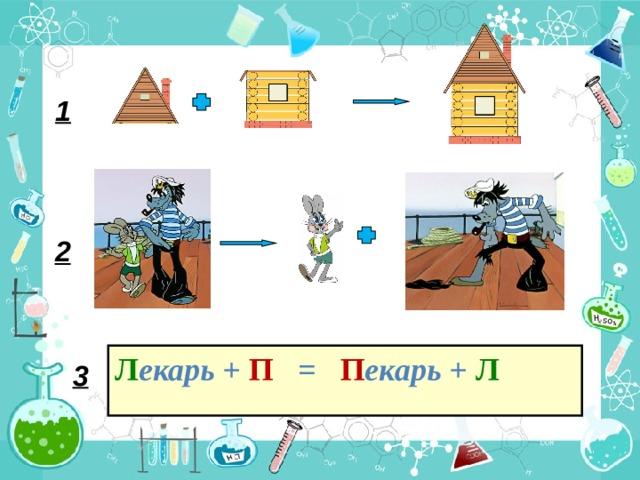 1 2 Л екарь + П = П екарь + Л 3