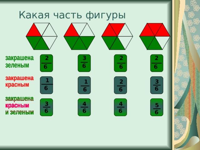 Какая часть фигуры 2 2 3 2 6 6 6 6 1 1 2 3 6 6 6 6 3 4 4 5 6 6 6 6