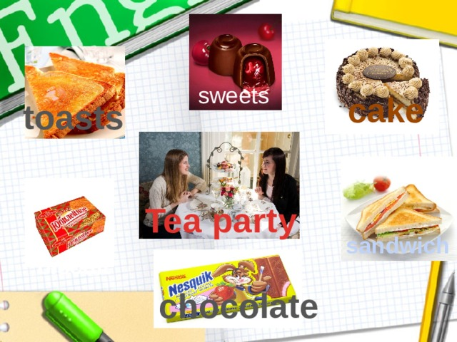 sweets cake toasts Tea party sandwich biscuit chocolate