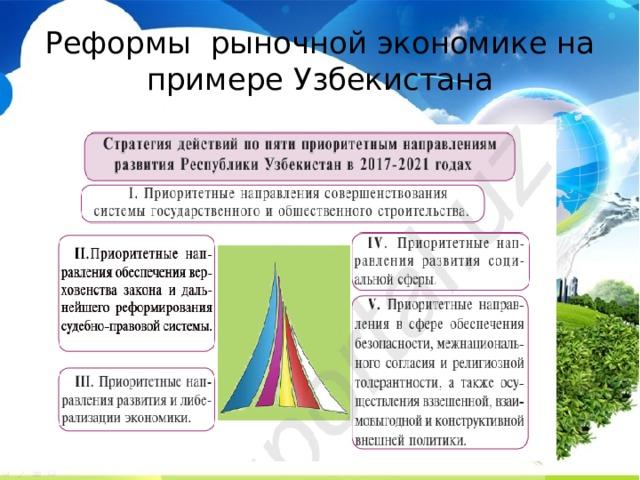 Реформы рыночной экономике на примере Узбекистана