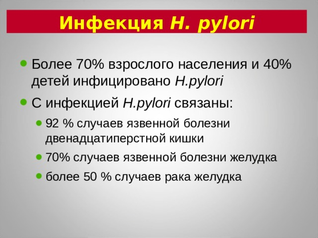 Инфекция H. pylori
