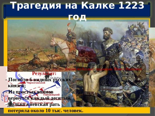 Трагедия на Калке 1223 год Зябкин Дмитрий.