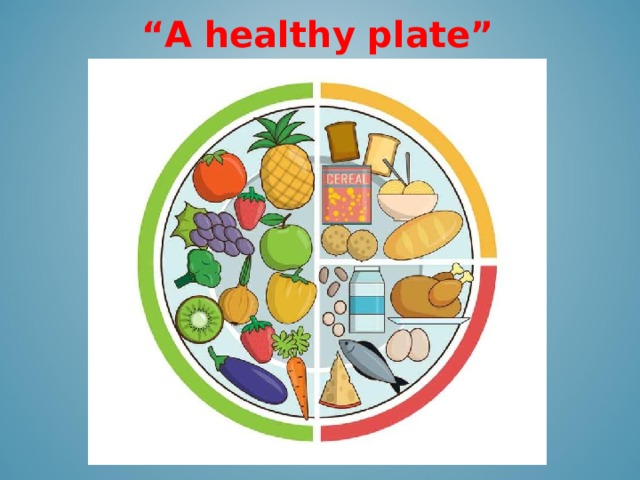 """"""" A healthy plate"""""""