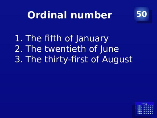 Ordinal number 50