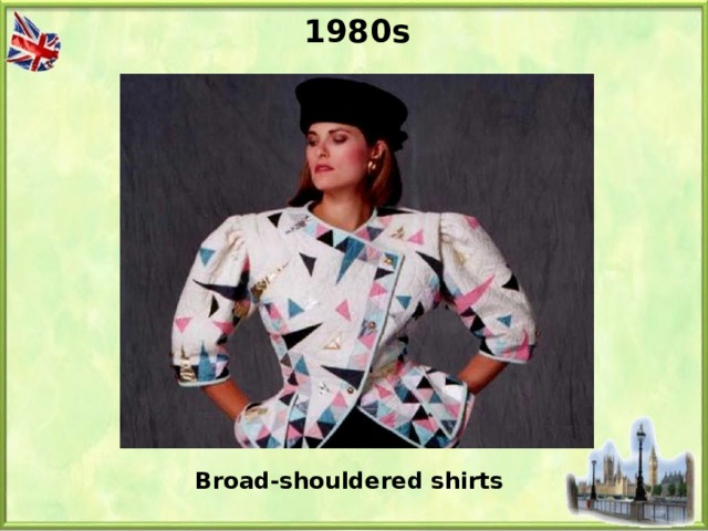 1980s Broad-shouldered shirts