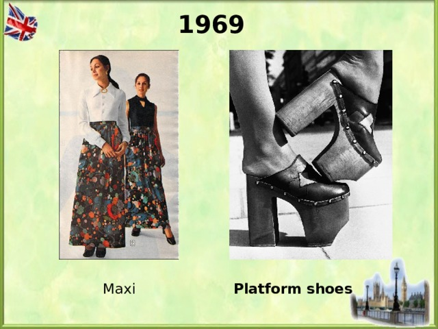1969 Platform shoes Maxi