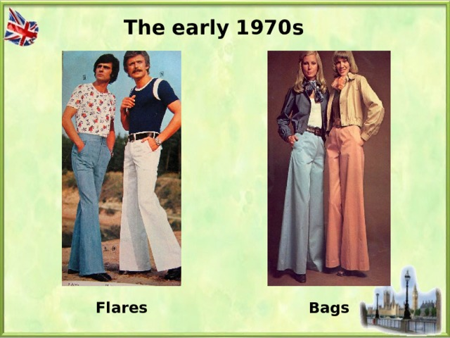 The early 1970s Flares Bags