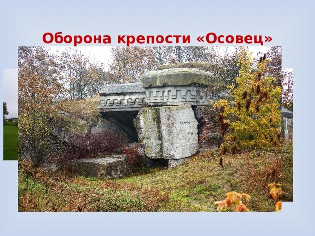 Оборона крепости «Осовец»