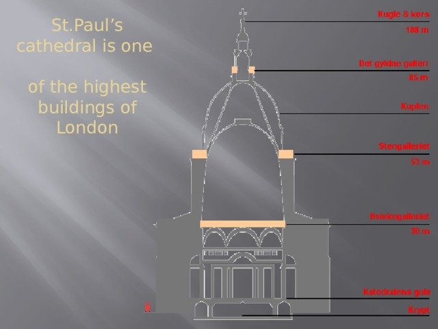 St.Paul's cathedral is one  of the highest buildings of London