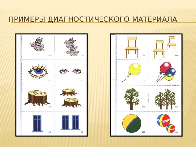 Примеры диагностического материала