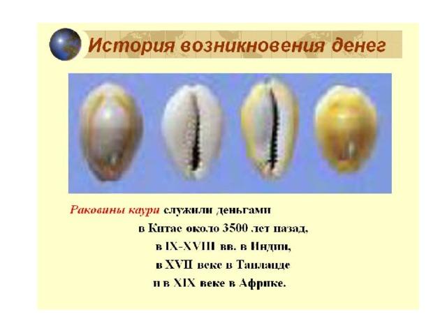 XII – XIV века в истории России называют безмонетным периодом. Поэтому раковины каури использовали в качестве денег. Почему именно они, так как трудно достать