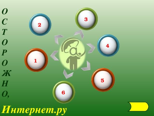 О С Т О Р О Ж Н О, 3 2 4 1 5 6 Интернет.ру