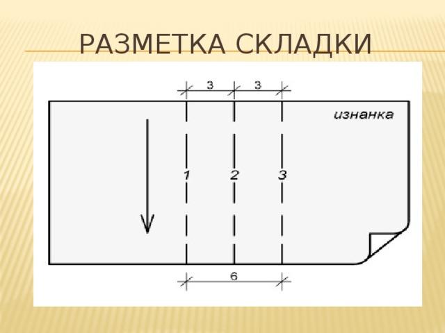 РАЗМЕТКА СКЛАДКИ