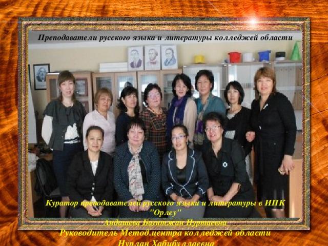 Преподаватели русского языка и литературы колледжей области  Куратор преподавателей русского языки и литературы в ИПК