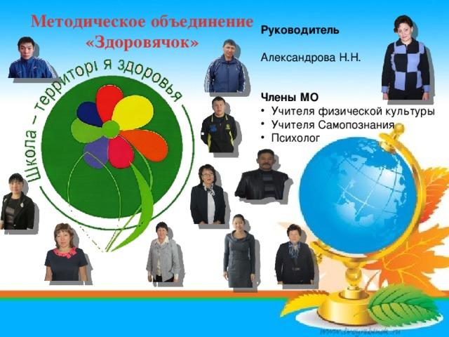 Методическое объединение  «Здоровячок» Руководитель Александрова Н.Н.  Члены МО