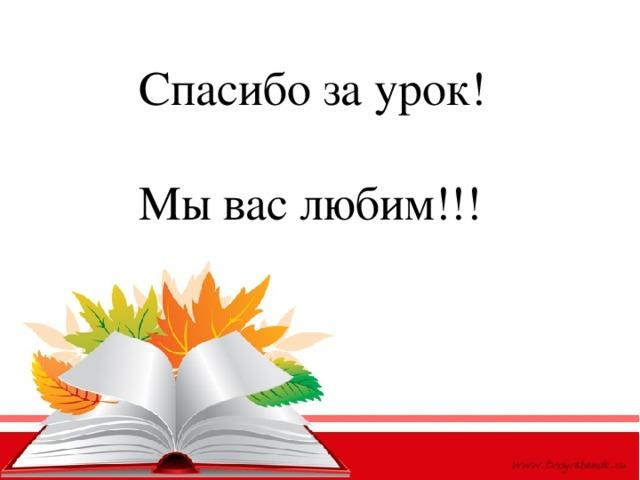 Спасибо за урок! Мы вас любим!!!