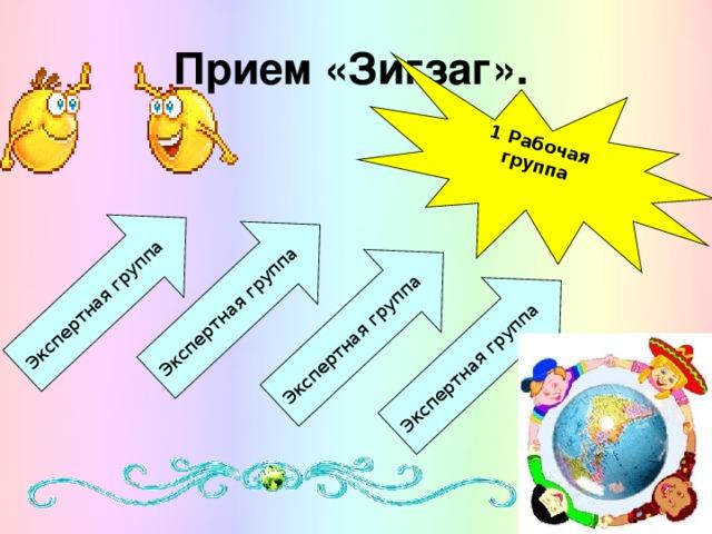 1 Рабочая группа  Экспертная группа Экспертная группа Экспертная группа Экспертная группа Прием «Зигзаг».