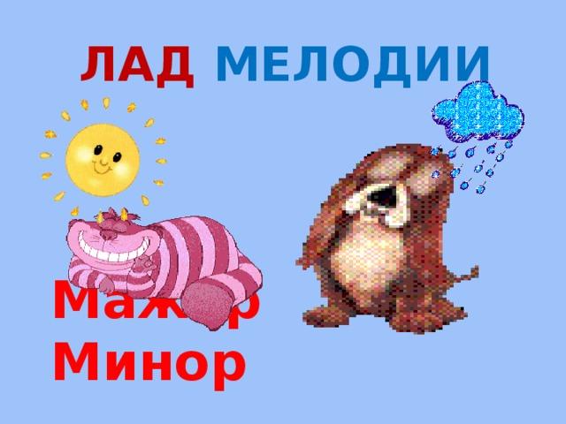 Лад мелодии Мажор Минор