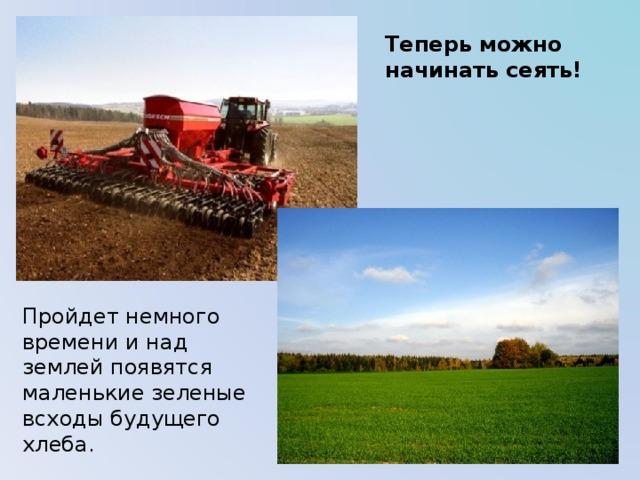 Теперь можно начинать сеять! Пройдет немного времени и над землей появятся маленькие зеленые всходы будущего хлеба.