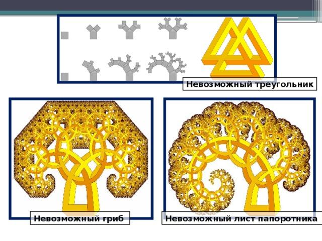 Невозможный треугольник Невозможный гриб Невозможный лист папоротника