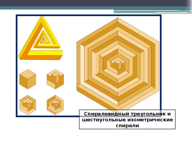Спиралевидный треугольник и шестиугольные изометрические спирали