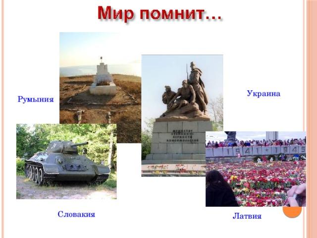 Украина Румыния Словакия Латвия