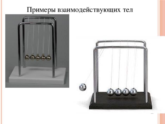 Примеры взаимодействующих тел