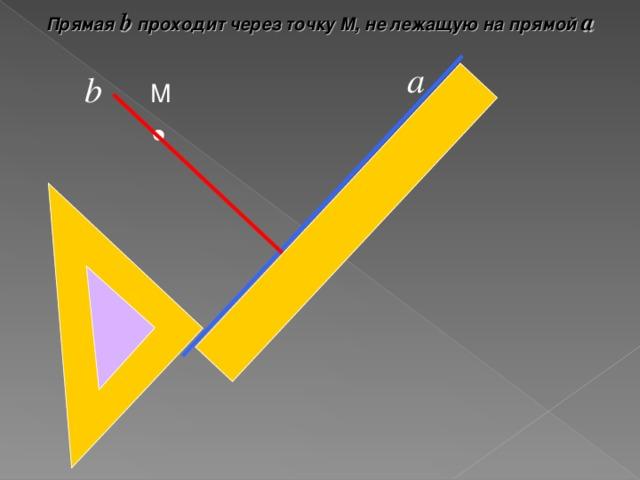 Прямая b проходит через точку М, не лежащую на прямой а а b М