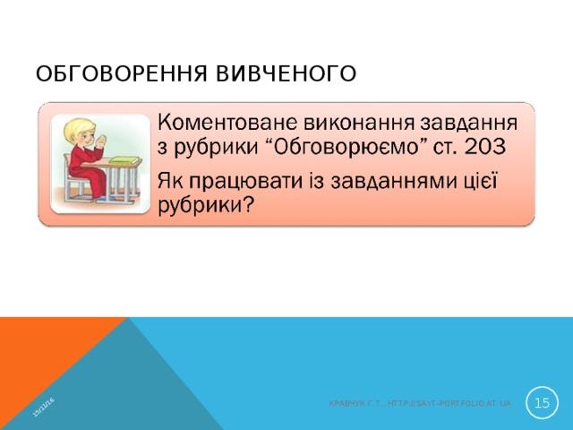 15/11/16 ОБГОВОРЕННЯ ВИВЧЕНОГО  КРАВЧУК Г.Т., HTTP://SAYT-PORTFOLIO.AT.UA