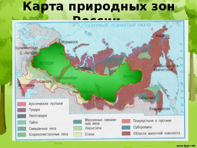 Карта природных зон России.