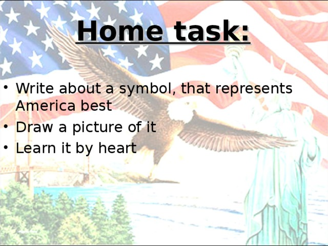Home task: