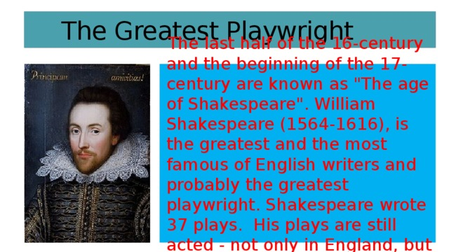 The Greatest Playwright