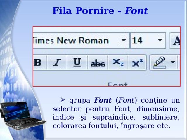 Fila Pornire - Font
