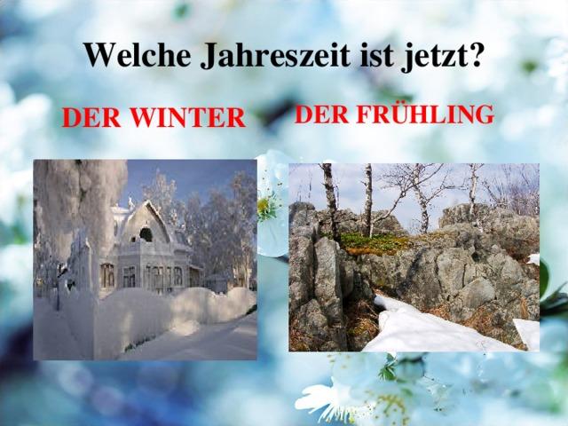 Welche Jahreszeit ist jetzt ? DER WINTER DER FRÜHLING