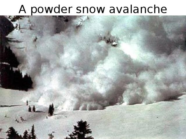 A powder snow avalanche