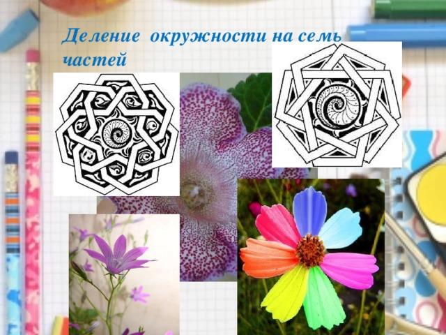 Деление окружности на семь частей
