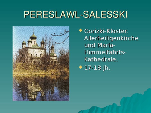 PERESLAWL -SALESSKI