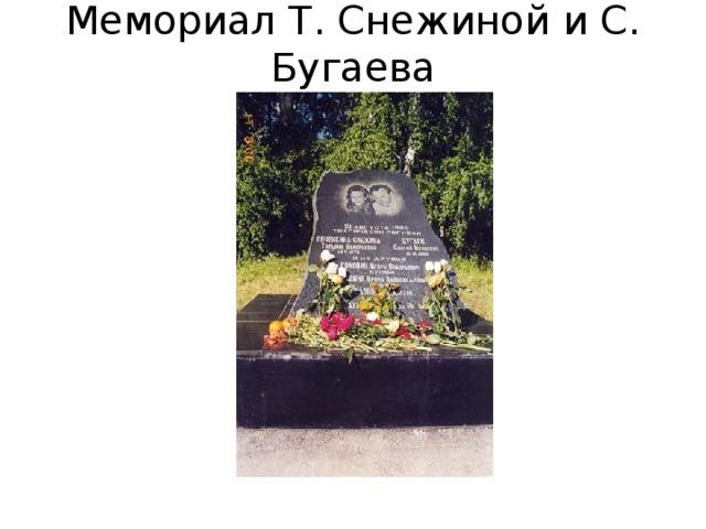 Мемориал Т. Снежиной и С. Бугаева