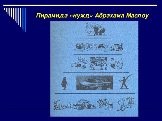 Пирамида «нужд» Абрахама Маслоу