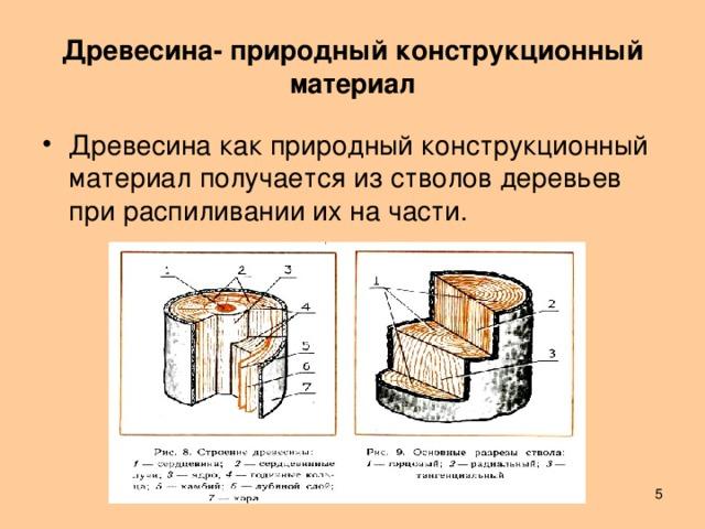 Древесина- природный конструкционный материал Древесина как природный конструкционный материал получается из стволов деревьев при распиливании их на части.  Лешуков Сергей Иванович