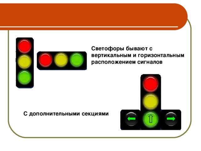 Виды светофоров: Транспортные  ► ◄ Пешеходные