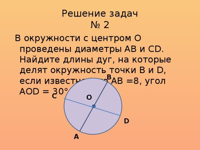 Окружности решение задач решение задач на железо