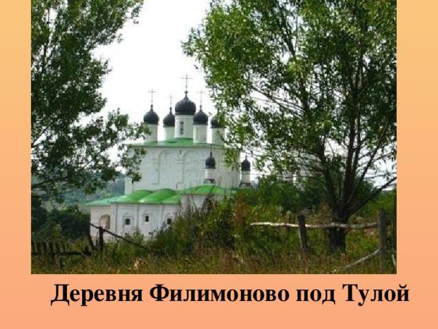 Деревня Филимоново под Тулой