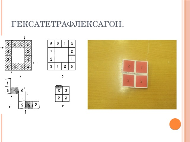 Гексатетрафлексагон.